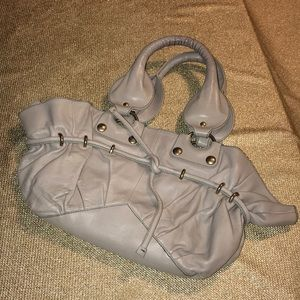 Vivia gray leather handbag by Vivia Ferragamo